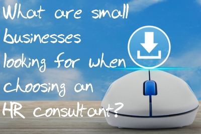 What are small businesses looking for when choosing an HR consultant