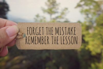 Learning from my mistakes