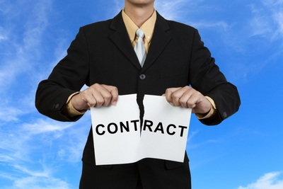 Businessman break contract